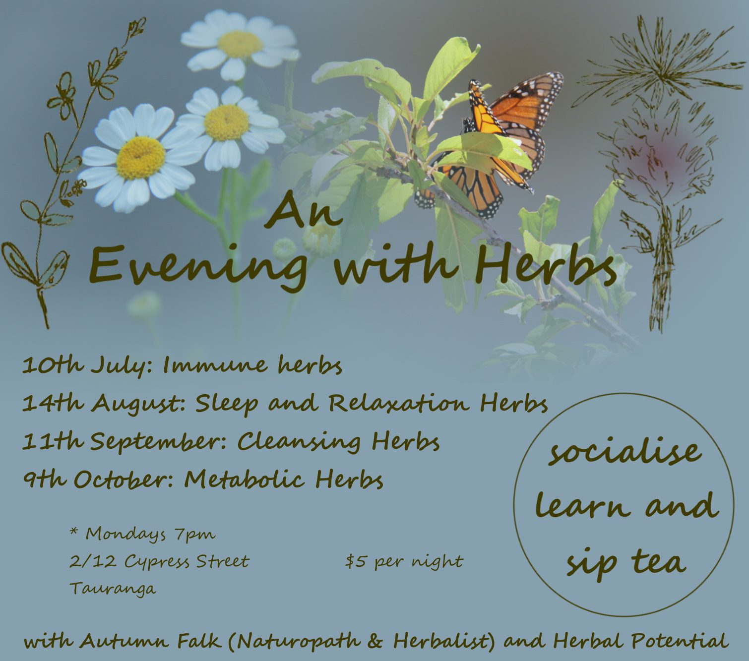 Course: An Evening with Herbs - Autumn Falk (Naturopath & Herbalist) & Herbal Potential